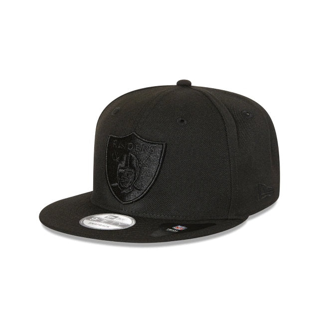 OAKLAND RAIDERS 9FIFTY SNAPBACK - BLACK ON BLACK