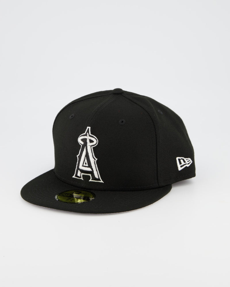Los Angeles Angels 59FIFTY Fitted Cap - Black/White