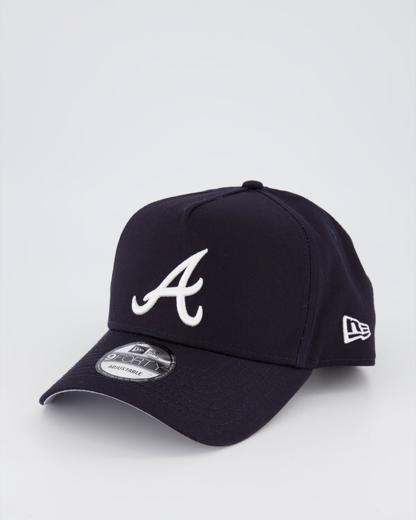 ATLANTA BRAVES 9FORTY A-FRAME - NAVY/GREY UV