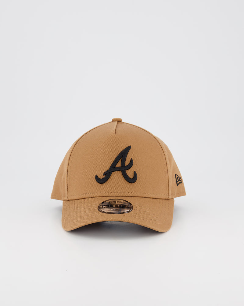 CHILD ATLANTA BRAVES 9FORTY A-FRAME - WHEAT