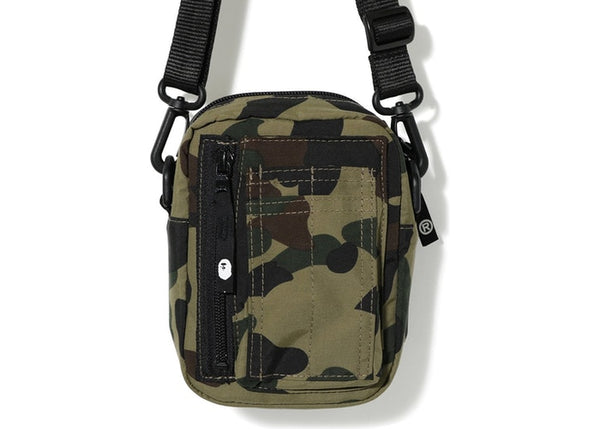 BAPE 1ST CAMO MILITARY SHOULDER BAG - GREEN