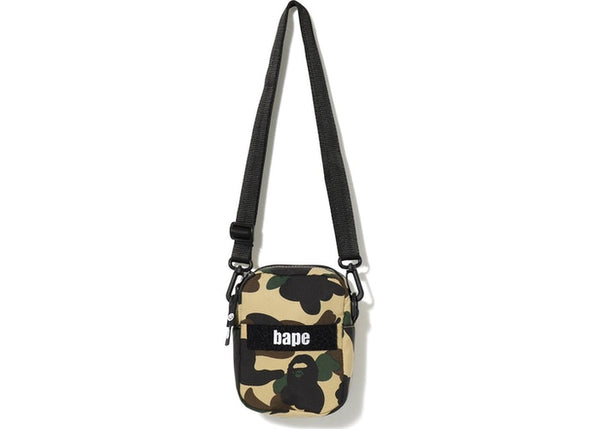 BAPE 1ST CAMO MILITARY SHOULDER BAG - YELLOW