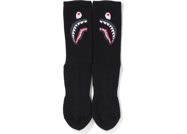 BAPE 2ND SHARK SOCKS - BLACK