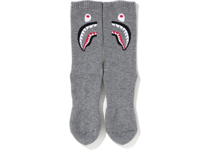 BAPE 2ND SHARK SOCKS - GREY