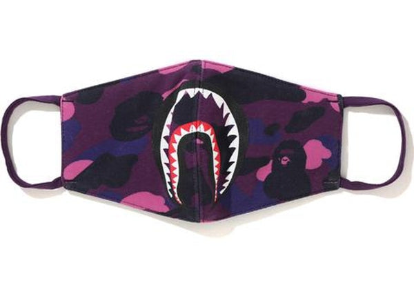 BAPE COLOUR CAMO SHARK MASK - PURPLE