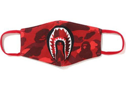 BAPE COLOUR CAMO SHARK MASK - RED