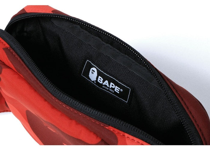BAPE COLOUR CAMO WAIST BAG - RED
