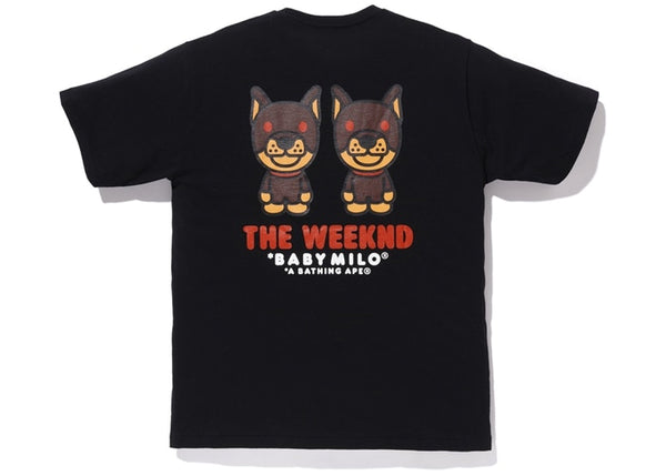 BAPE x XO THE WEEKEND TEE - BLACK