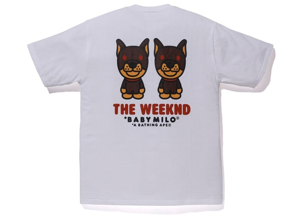 BAPE x XO THE WEEKEND TEE - WHITE