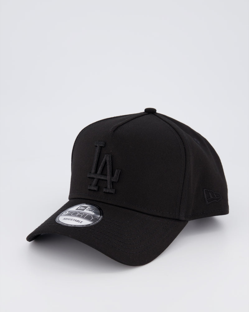 LA DODGERS 9FORTY A-FRAME - BLACK ON BLACK