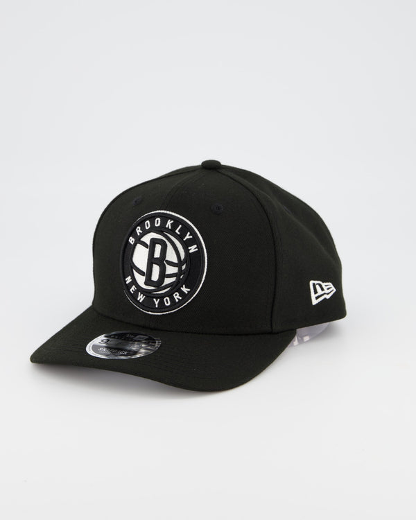 BROOKLYN NETS 9FIFTY ORIGINAL FIT PRE CURVE - BLACK/WHITE