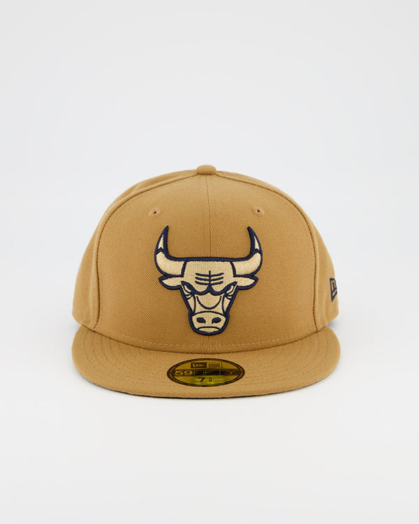 CHICAGO BULLS 59FIFTY FITTED CAP - WHEAT/NAVY