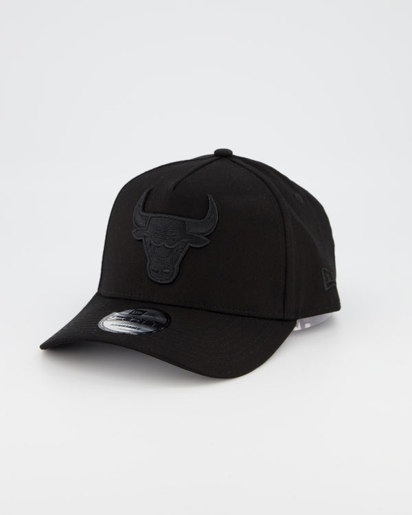 CHICAGO BULLS 9FORTY A-FRAME - BLACK ON BLACK