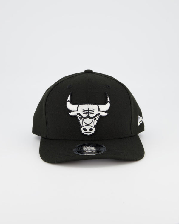 CHICAGO BULLS 9FIFTY ORIGINAL FIT PRE CURVE - BLACK/WHITE