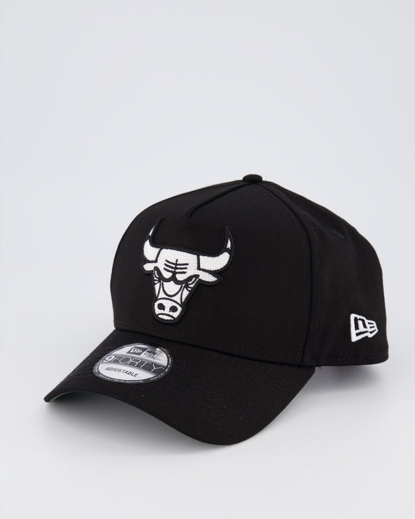 CHICAGO BULLS 9FORTY A-FRAME - BLACK/BLACK UNDER VISOR