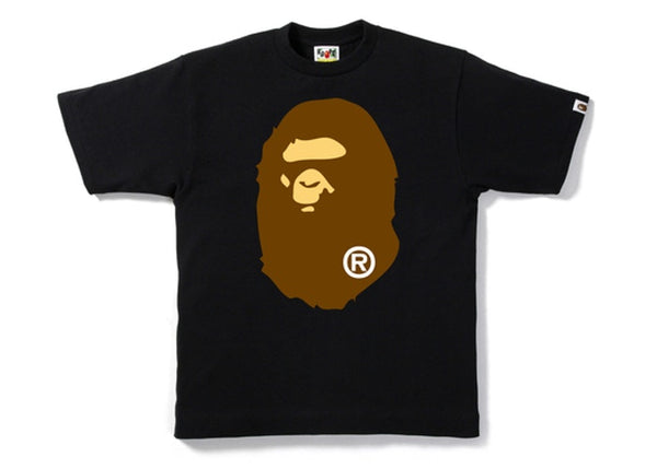 BAPE BIG APE HEAD TEE - BLACK