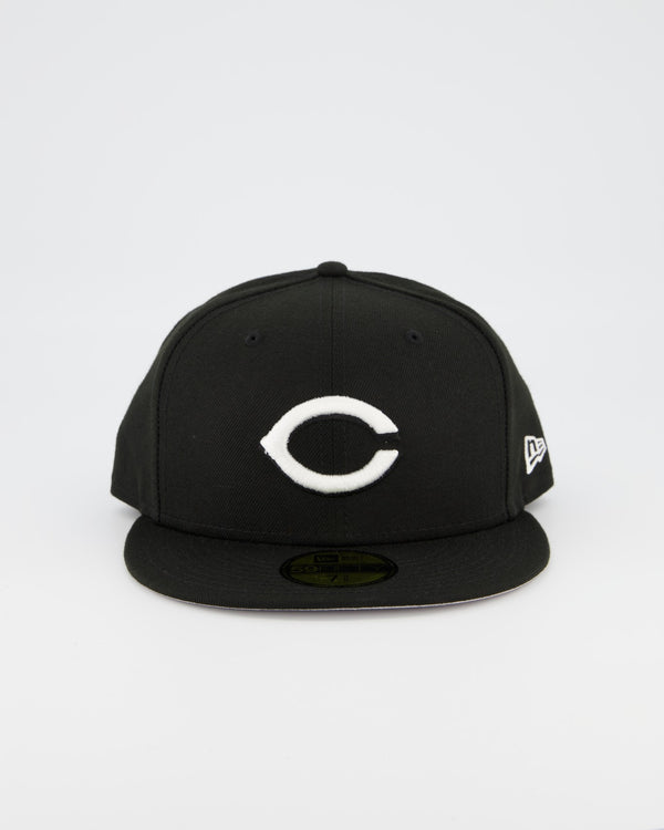 Cincinnati Reds 59FIFTY Fitted Cap - Black/White