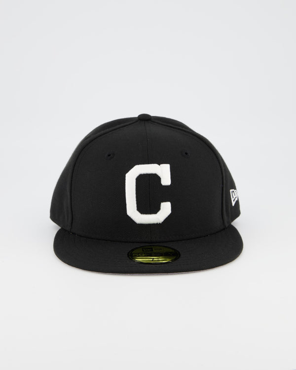 Cleveland Indians 59FIFTY Fitted Cap - Black/White
