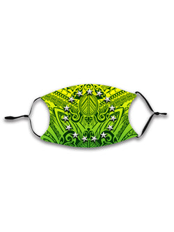 COOK ISLANDS ADJUSTABLE FACE MASK with Filter - KIDS & ADULTS