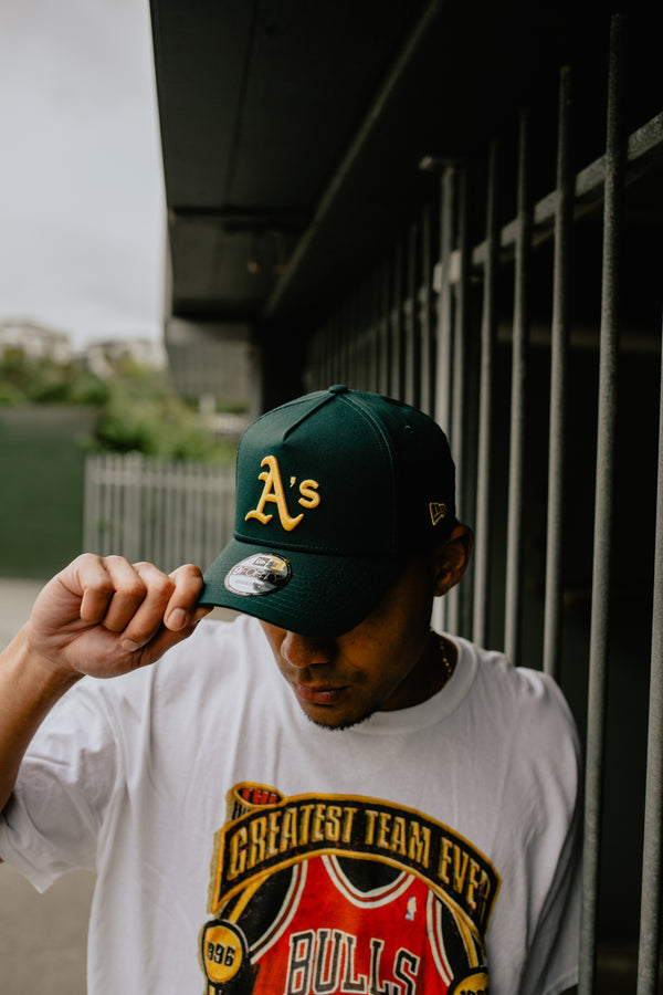 OAKLAND ATHLETICS 9FORTY A-FRAME - FOREST GREEN/GREEN UNDERVISOR