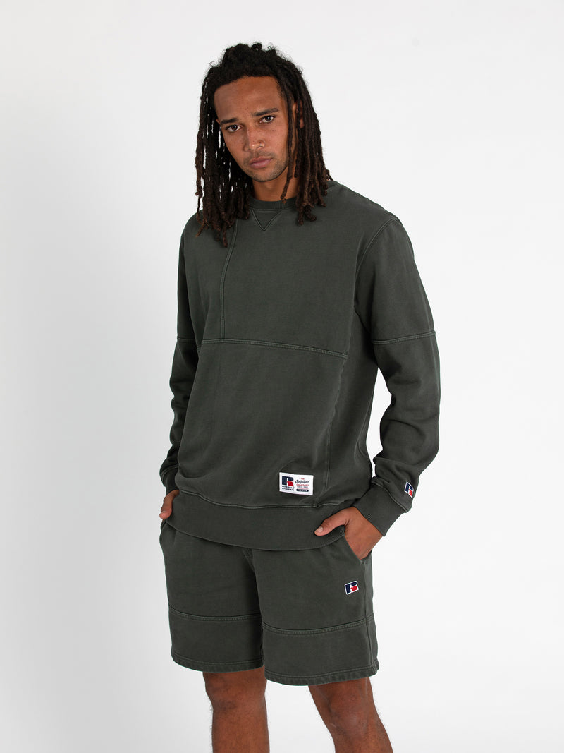 Russell Athletic Eagle R Crew - OLIVE