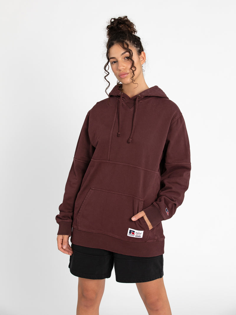 Russell Athletic Eagle R Panel Hoodie - PAPRIKA