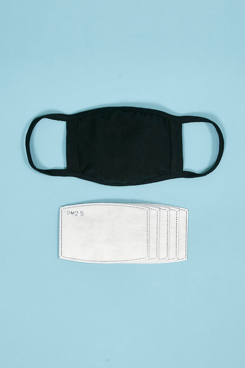 PLAIN COTTON FACE MASK with PM 2.5 FILTER