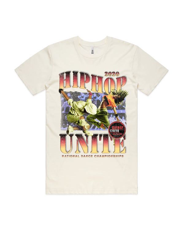 HHUNZ 2020 VINTAGE WASH TEE - NATURAL WHITE