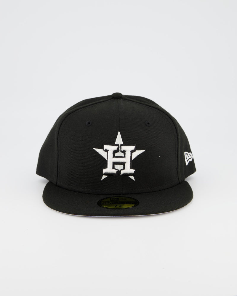 Houston Astros 59FIFTY Fitted Cap - Black/White