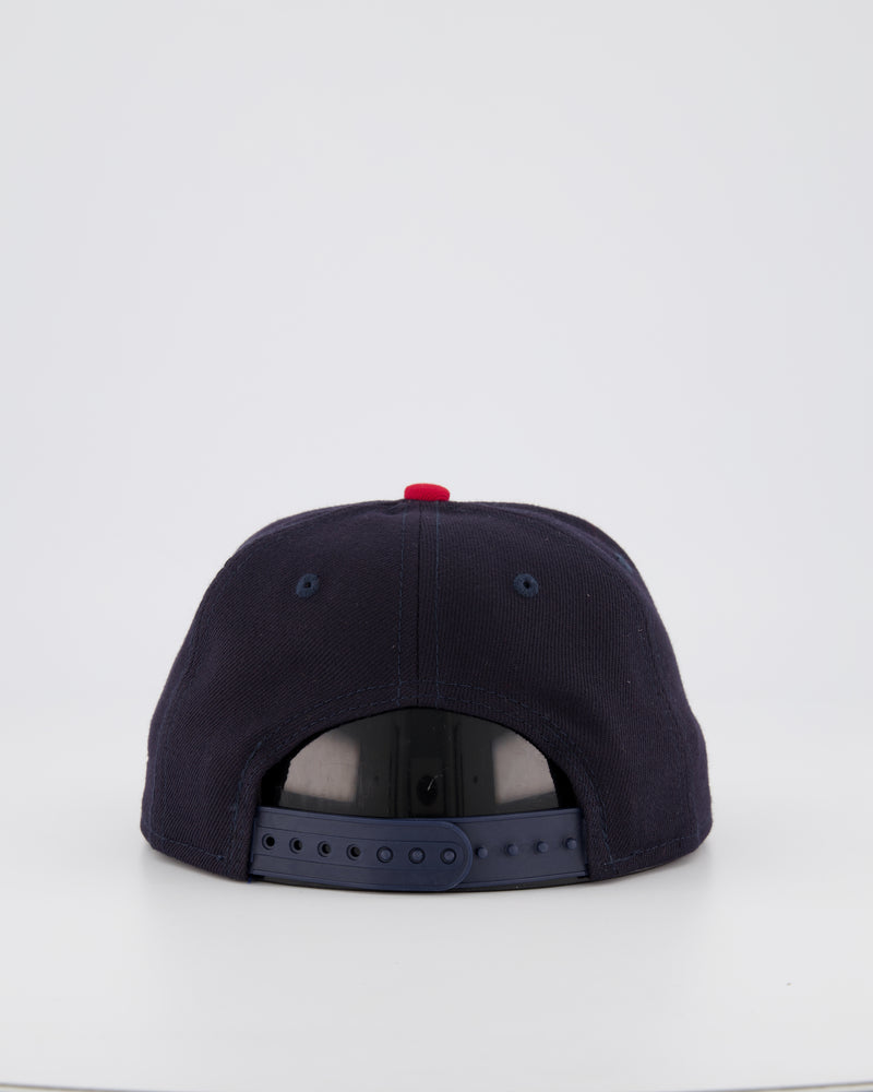 YOUTH CLEVELAND INDIANS 9FIFTY SNAPBACK - BLACK/RED