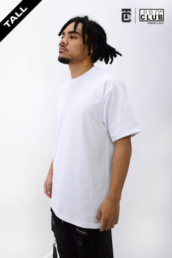 Proclub Heavyweight Short Sleeve Tall Tee - WHITE