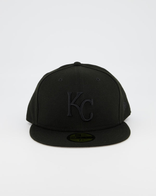 Kansas City Royals 59FIFTY Fitted Cap - Black on Black