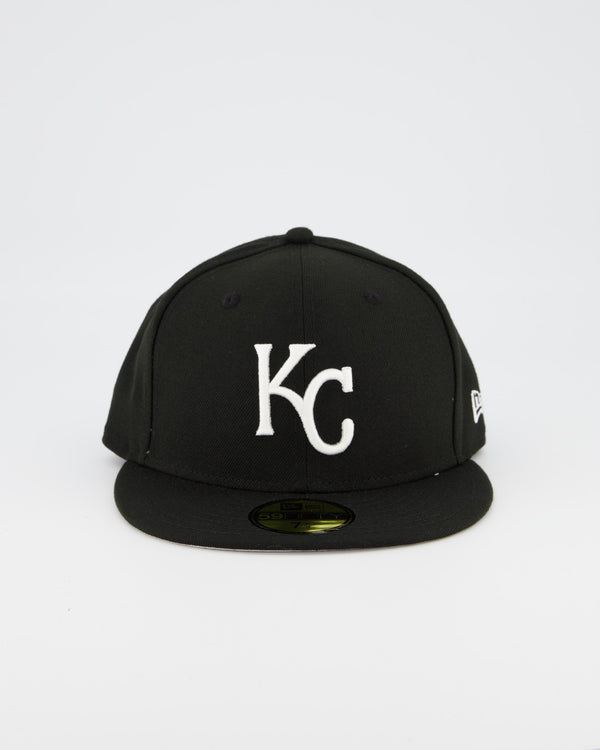 Kansas City Royals 59FIFTY Fitted Cap - Black/White
