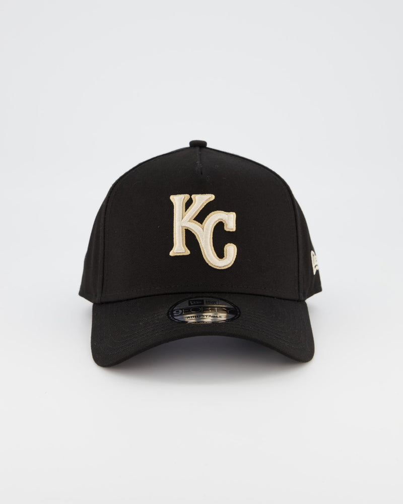KANSAS CITY ROYALS 9FORTY A-FRAME - BLACK TAN/STONE
