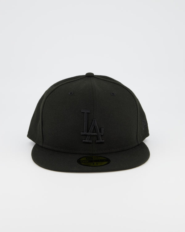 LA Dodgers 59FIFTY Fitted Cap - Black on Black