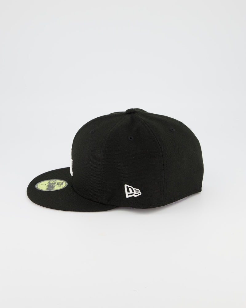 LA Dodgers 59FIFTY Fitted Cap - Black/White