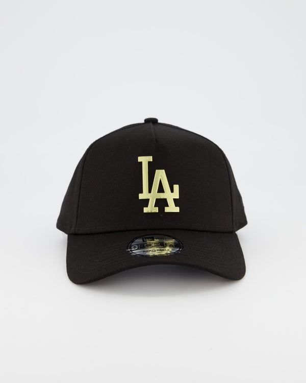 LA DODGERS 9FORTY A-FRAME - GOLD METAL BADGE