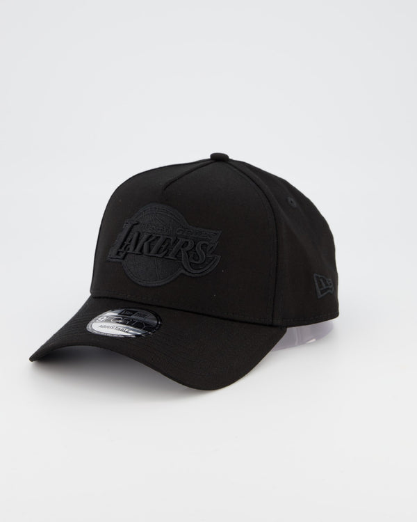 LA LAKERS 9FORTY A-FRAME - BLACK ON BLACK