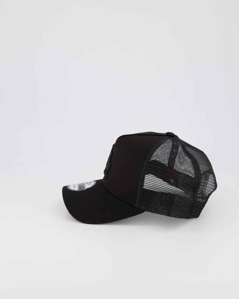 LA DODGERS MESH TRUCKER 9FORTY A-FRAME - BLACK ON BLACK