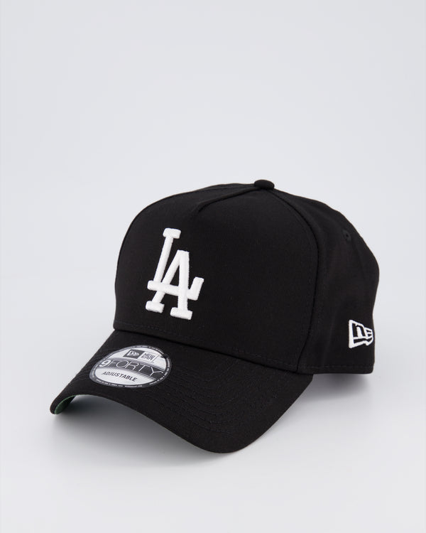 LA DODGER 9FORTY A-FRAME - BLACK/GREEN UNDER VISOR