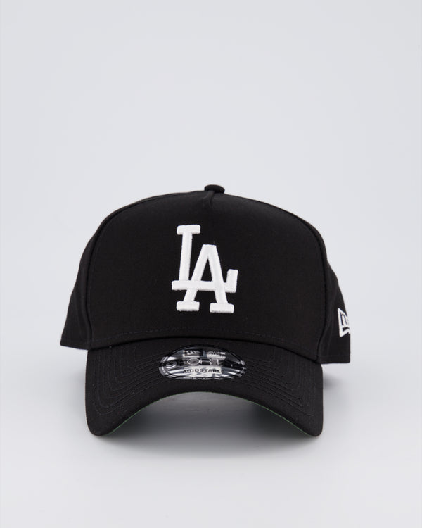 LA DODGER 9FORTY A-FRAME - BLACK/BLACK UNDER VISOR