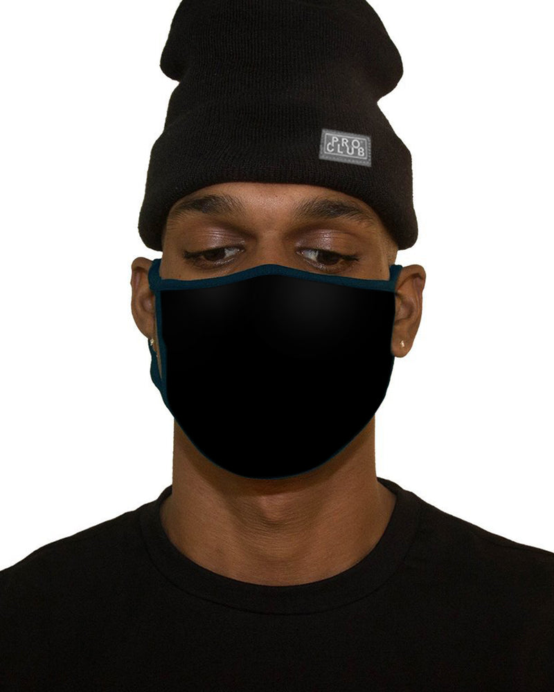 PLAIN COTTON REUSABLE FACE MASK - BLACK