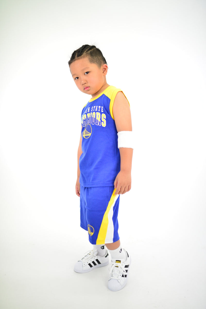 KIDS GOLDEN STATE WARRIORS TRAINING CHAMP 2 PIECE SET