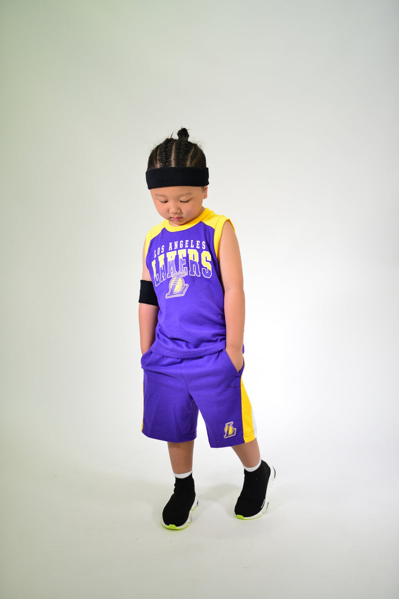 KIDS LA LAKERS TRAINING CHAMP 2 PIECE SET