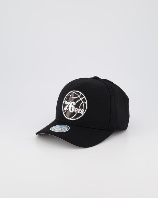 PHILADELPHIA 76ER NBA PINCH 110 SNAPBACK - 3D SILICONE METALLIC SEAL