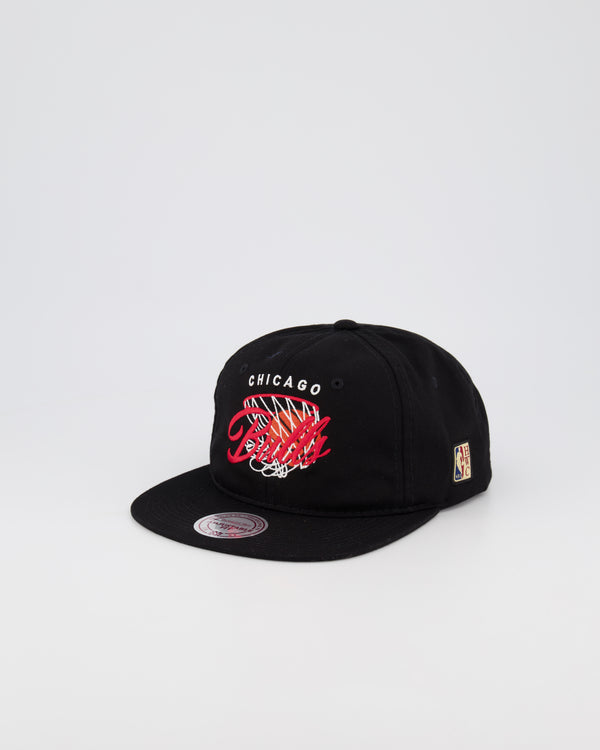 CHICAGO BULLS NBA DEADSTOCK SNAPBACK - Q4 FLAT STITCH LOGO