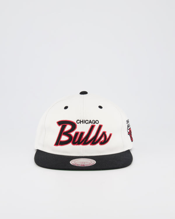 CHICARGO BULLS NBA DEADSTOCK SNAPBACK - WHITE TEAM SCRIPT