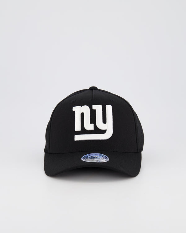 NEW YORK GIANTS NFL PINCH 110 SNAPBACK - BLACK/WHITE LOGO