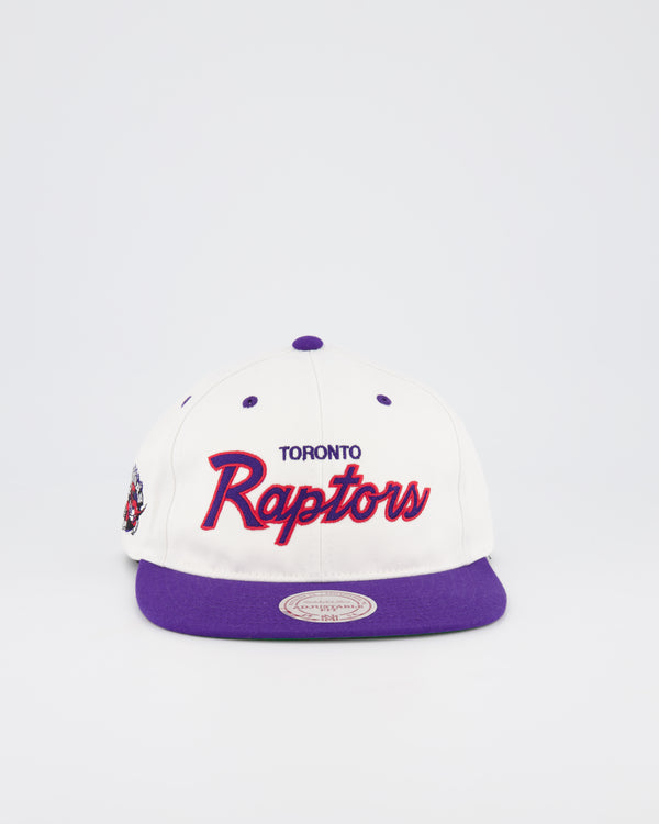 TORONTO RAPTORS NBA DEADSTOCK SNAPBACK - WHITE TEAM SCRIPT