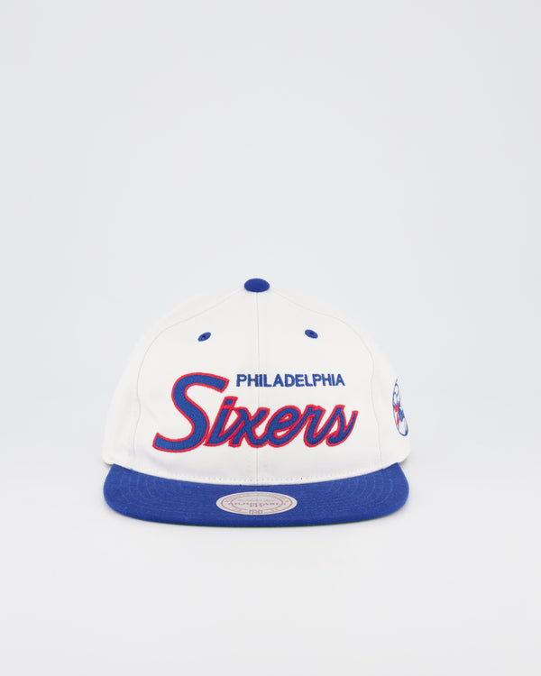PHILADELPHIA 76ERS NBA DEADSTOCK SNAPBACK - WHITE TEAM SCRIPT